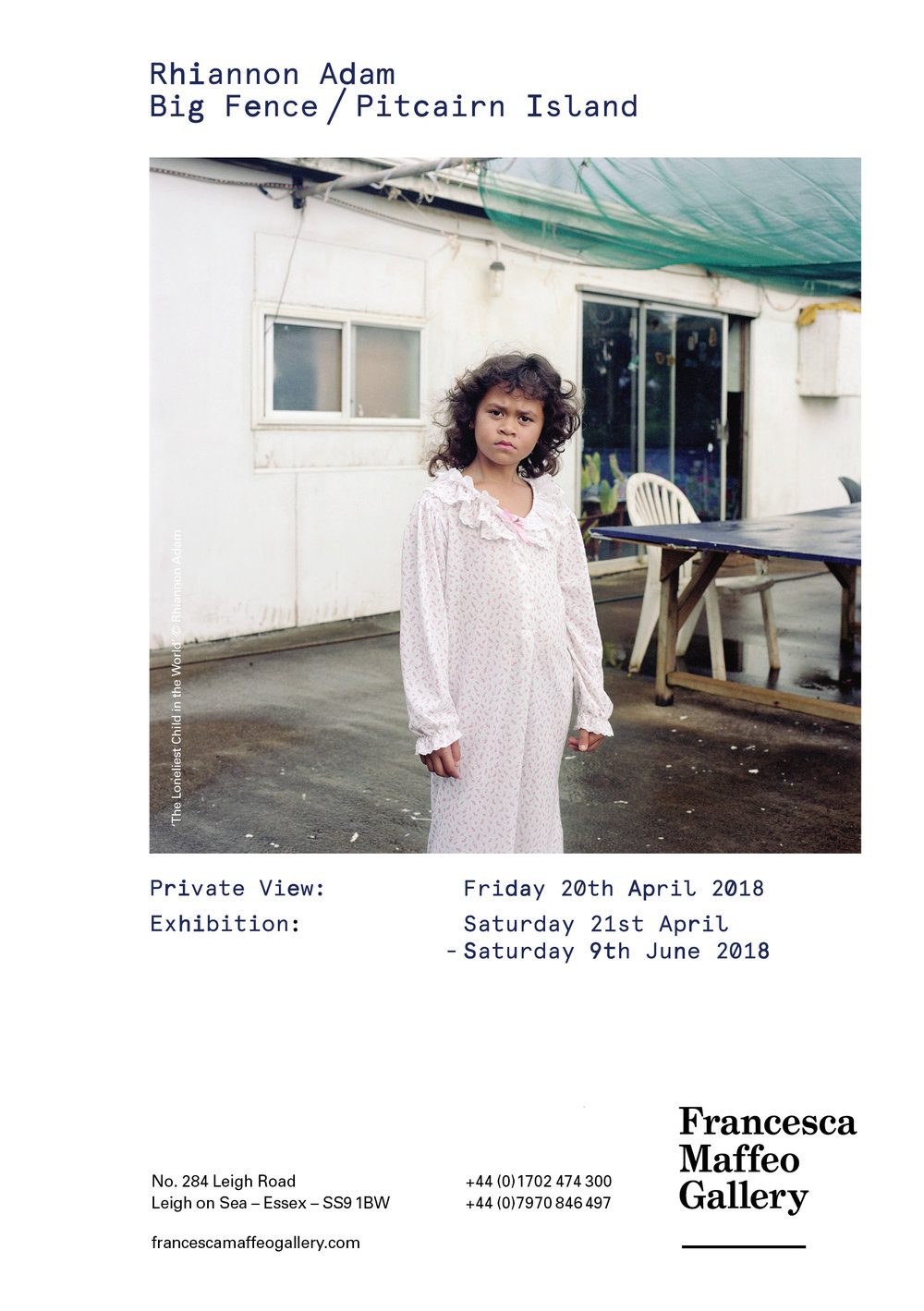 Rhiannon Adam | Big Fence / Pitcairn Island      Press Release      Print Sales