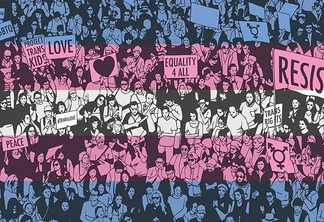 We see you. We love you. // #transvisibility 💙💕💙