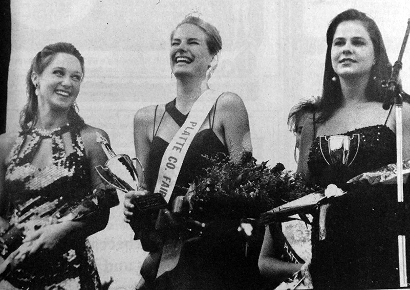 Citizen file photo Anne Swaney, center, earned the title of Platte County Fair Queen in the summer of 1994 competition shortly after she graduated from Platte County High School. Last week, authorities in the Central American country of Belize found Swaney murdered while she was vacationing there.