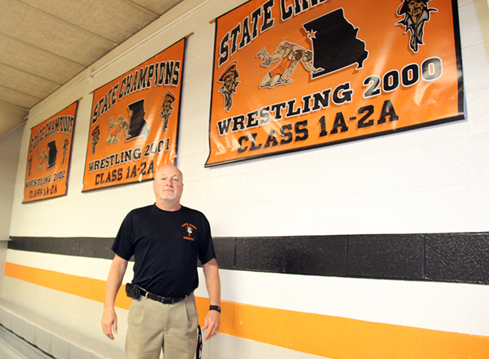 ROSS MARTIN/Citizen photo Former Platte County wrestling coach Phil Dorman will be inducted in the Missouri Chapter of the National Wrestling Hall of Fame this week.