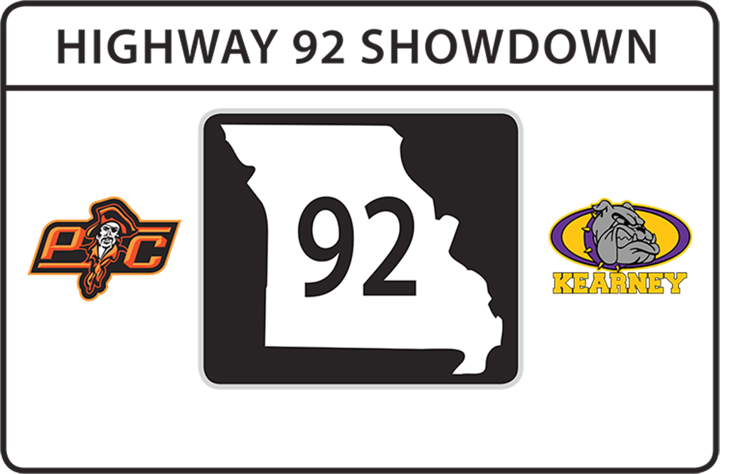 Contributed graphic A visual of the traveling trophy set to be used for the football game between Platte County and Kearney high schools.