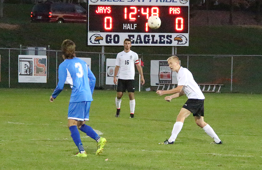 Citizen file photo Park Hill South's Seth Hudson (16) watches from his center back spot during the Panthers' Class 4 District 15 championship game victory against Liberty North in October.