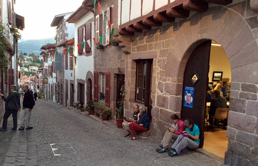 JOHN LARIMER/Special to the Citizen The pilgrim's office at St-Jean-Pied-de-Port, France is where travelers pick up their pilgrim credential before setting out on the Camino de Santiago walk.