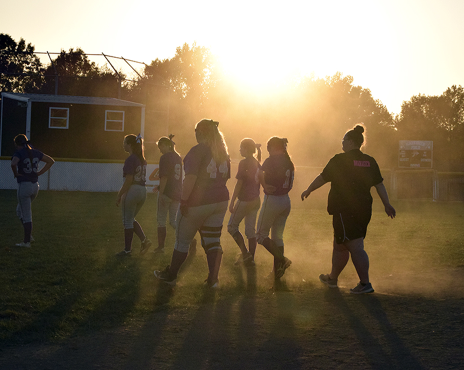 BRYCE MERENESS/Citizen photo North Platte players walk off the field at Sherwood High School in Creighton, Mo. following a 3-0 loss to the Lady Marksmen in a Class 2 sectional game played Wednesday, Oct. 14.