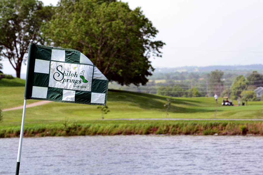 BRYCE MERENESS/Citizen photo The flag on the 11th green waves in the wind Monday, June 22 at Shiloh Springs Golf Club. A recent decision from the Platte County Commission approved a contract with Kemper Sports Management to run the facility, going into effect July 1.