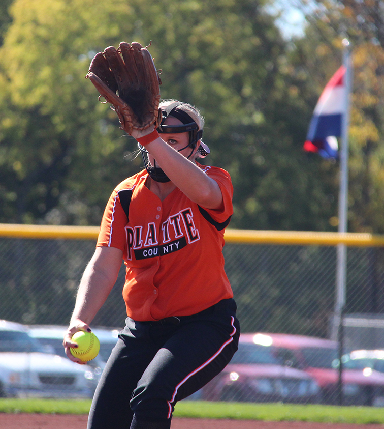 ROSS MARTIN/Citizen file photo Platte County pitcher Mallory Stoner delivers a pitch in a Class 3 quarterfinal against Pleasant Hill on Oct. 18 at Platte County High School.