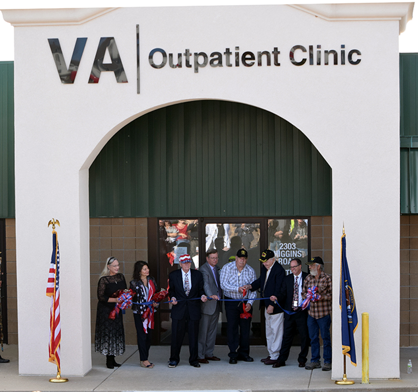 BRYCE MERENESS/Citizen photo Government officials, supporters and military veterans turned out Friday, Oct. 9 to celebrate the recent opening of the Department of Veterans Affairs (VA) health facility in Platte City.
