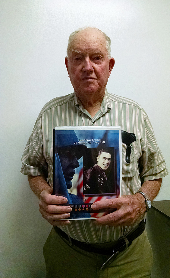 JEANETTE BROWNING FAUBION/Citizen photo George Crockett, pictured, wrote a book detailing his uncle John Crockett's multiple tours of service in the military. John Crockett was three times a prisoner of war and died of malnutrion in 1951 at a North Korean prison camp.
