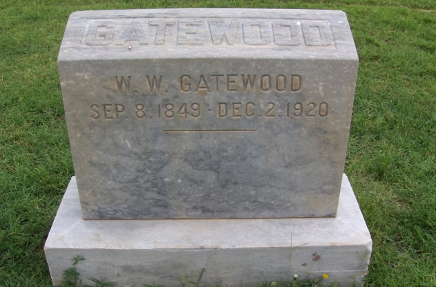 Contributed photo Headstone of W.W. Gatewood, an obscure figure in Platte County history.
