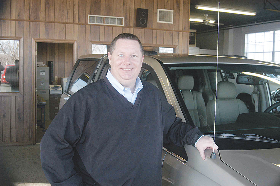 Lee Hockensmith, left, is the general manager of Platte City Airport Chrysler, Dodge, Jeep & Ram. The auto dealership at 601 Main Street in Platte City is the former site of Tony Martens Dodge Chrysler Jeep.  LEE STUBBS/Citizen photo