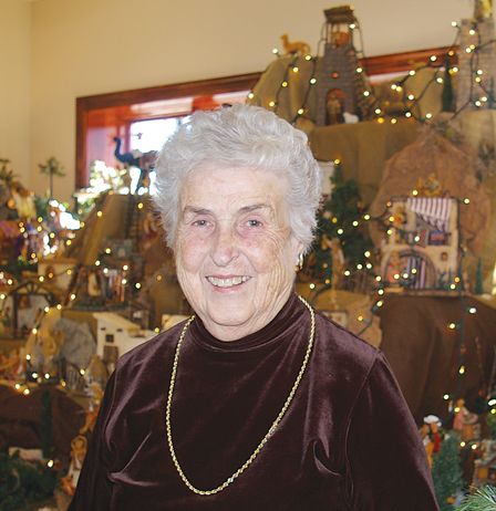 Madge Hanrahan's Nativity collection, featuring pieces from France, Italy and the Holy Land, is on display at the Society of Saint Pius X Regina Coeli House in Farley, with an open house scheduled for 1-4 p.m. Dec. 29 at St. Joseph's Hall.