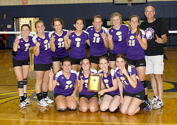 Submitted photo Members of the North Platte volleyball team pose with the trophy after winning the KCI Conference Tournament championship Sept. 6 at Penney High School in Hamilton, Mo.
