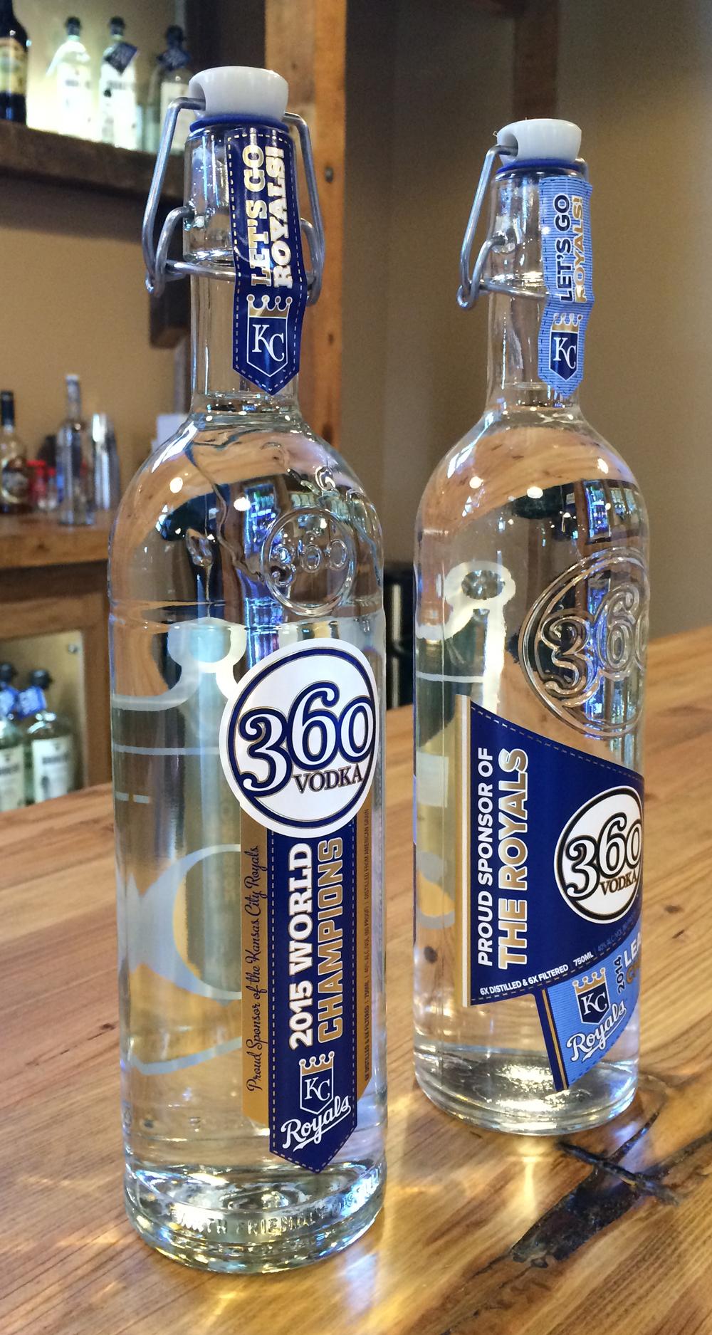 ROSS MARTIN/Citizen photo The 360 vodka 2015 commemorative edition (left) and the 2014 edition (right).