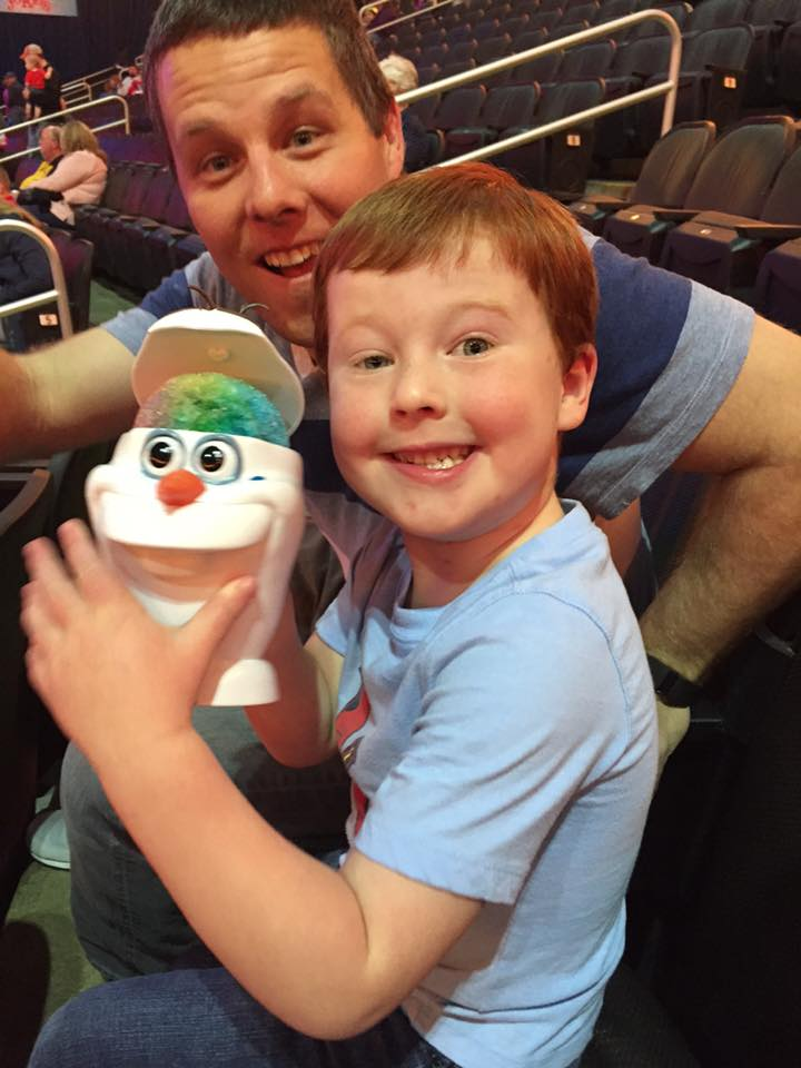 Facebook.com The Jaros family of Platte City, including four-year-old Landon (front), attended Disney on Ice on Friday, March 25 in Kansas City, Mo. Just four days later, Landon was diagnosed with leukemia, and he is currently undergoing treatment.