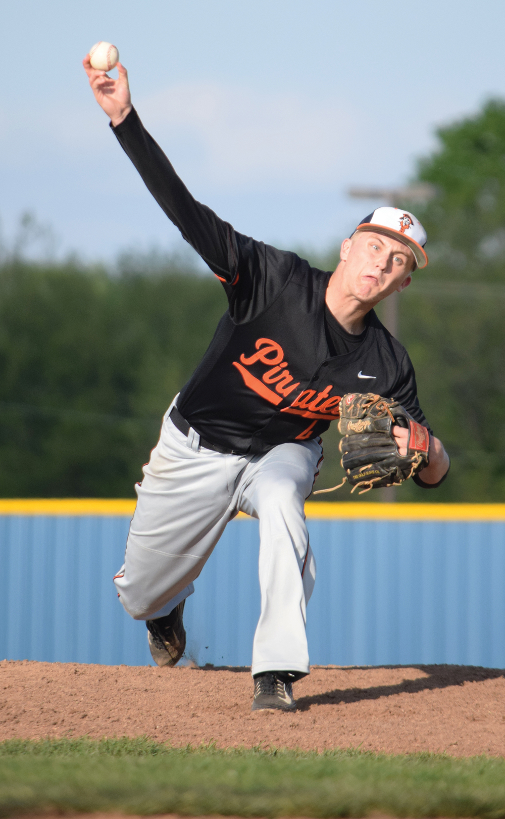 BRYCE MERENESS/Citizen photo Platte County junior Jared Wilson delivers a pitch against Liberty in the semifinals of the Northland Invitational on Friday, April 22 at Liberty High School in Liberty, Mo.
