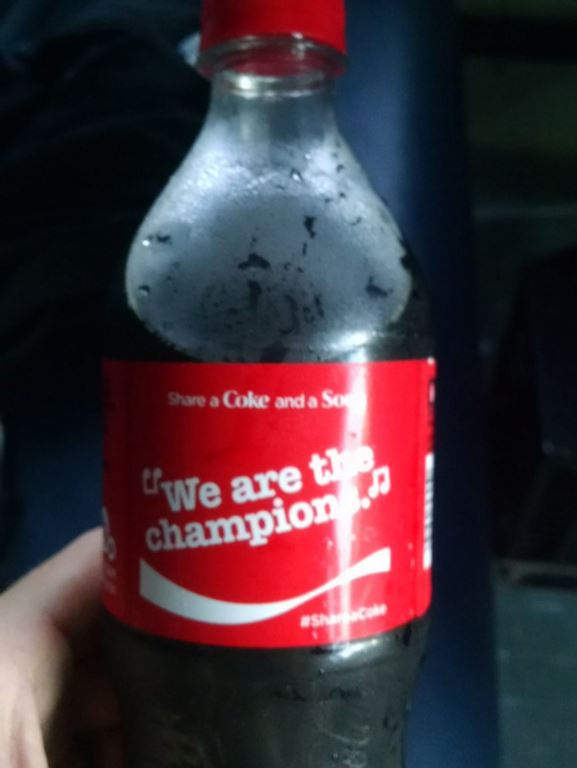 Twitter.com Platte County coach Trevor Short posted a picture of his Coke bottle with the hashtag omen after the Pirates claimed the Suburban Conference Blue Division title.