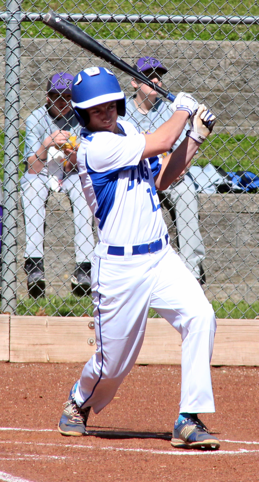 ROSS MARTIN/Citizen photo West Platte sophomore Grant Eagen follows through on a grand slam home run hit in the bottom of the first inning Wednesday, May 4 against North Platte in Weston, Mo. It was Eagen's first career home run.