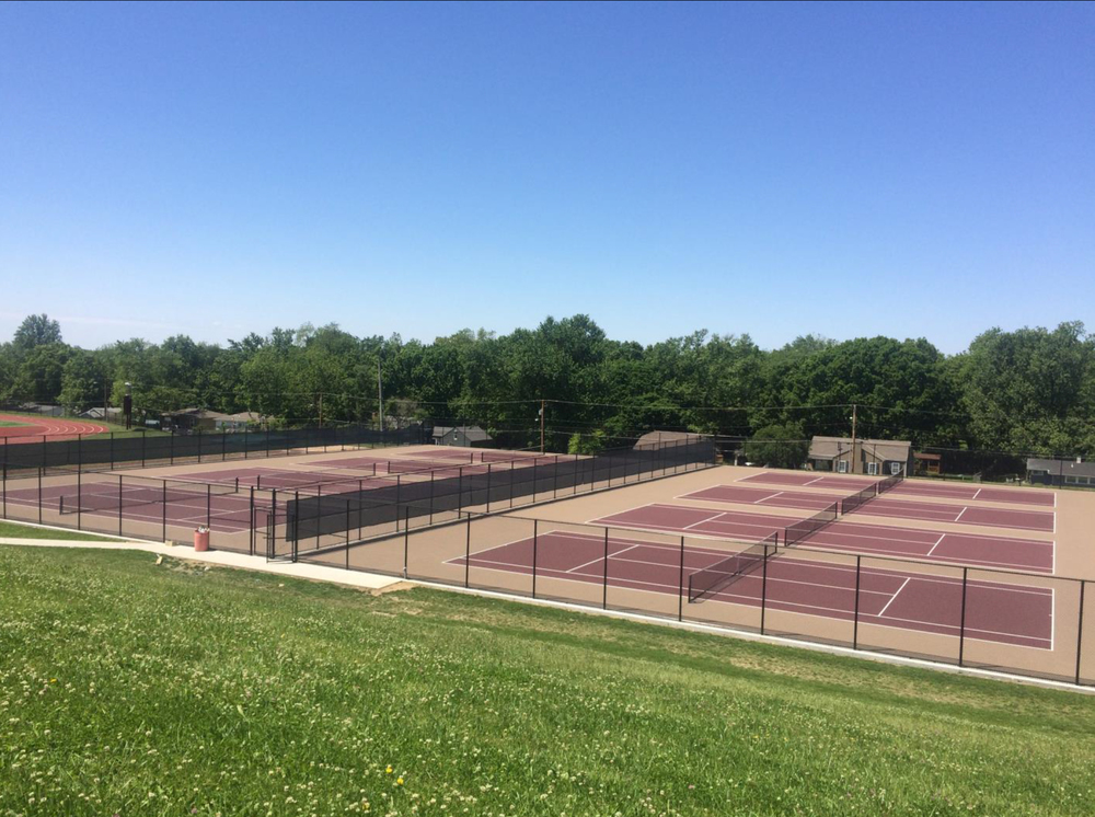 Contributed photo The Platte County Tennis Court committee presented the eight-court facility at Winnetonka High School, pictured here, as the desired design for Platte County High School's new complex.