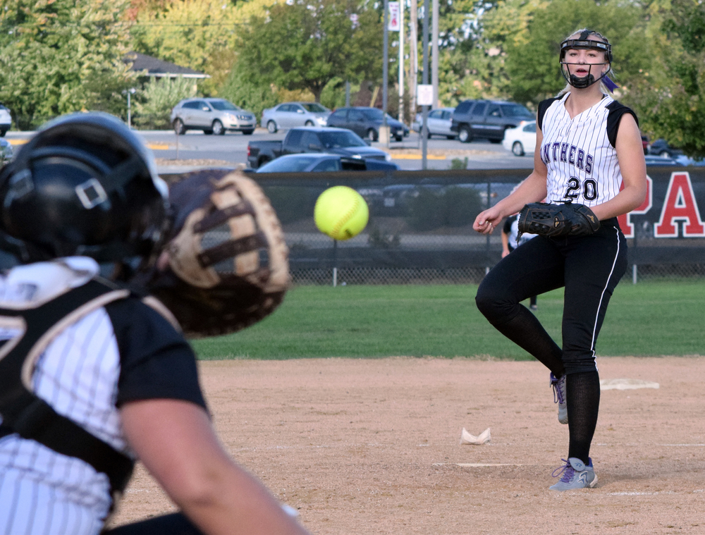 Citizen file photo Park Hill South junior Olivia Kinsey delivers a pitch against Park Hill this past fall.