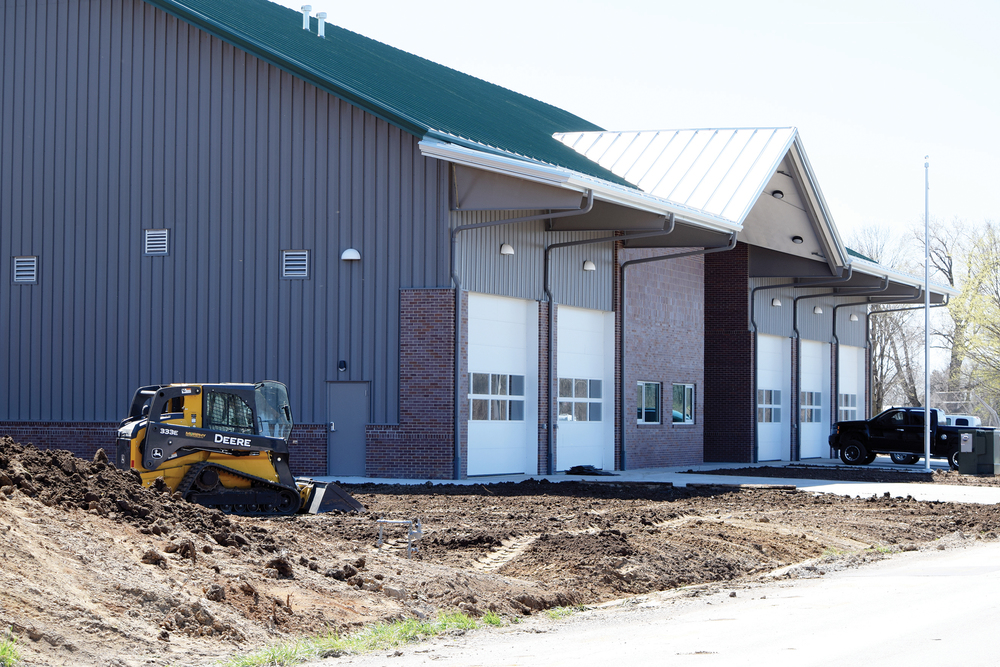 Citizen file photo Work recently finished on the new Camden Point Fire Protection District station located along Interurban Road near County Road E. The large new facility will also serve as a home for one of three ambulances in the Northland Regional Ambulance District.