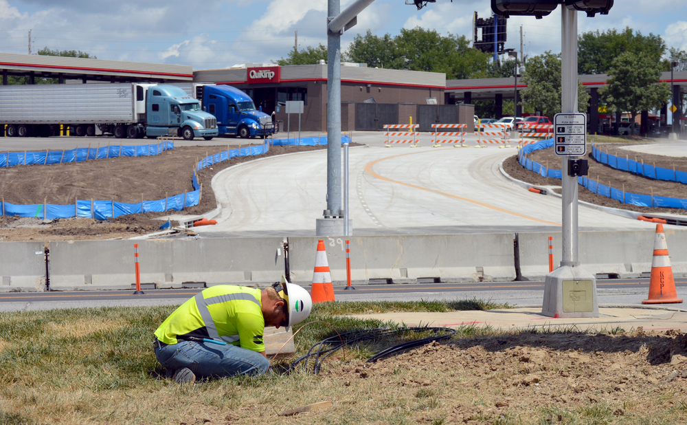 BRENT ROSENAUER/Citizen photo The new four-way intersection at Kentucky Avenue is scheduled to open this week along Highway 92, which is undergoing a large construction project. Work might actually finish up to two months ahead of schedule.