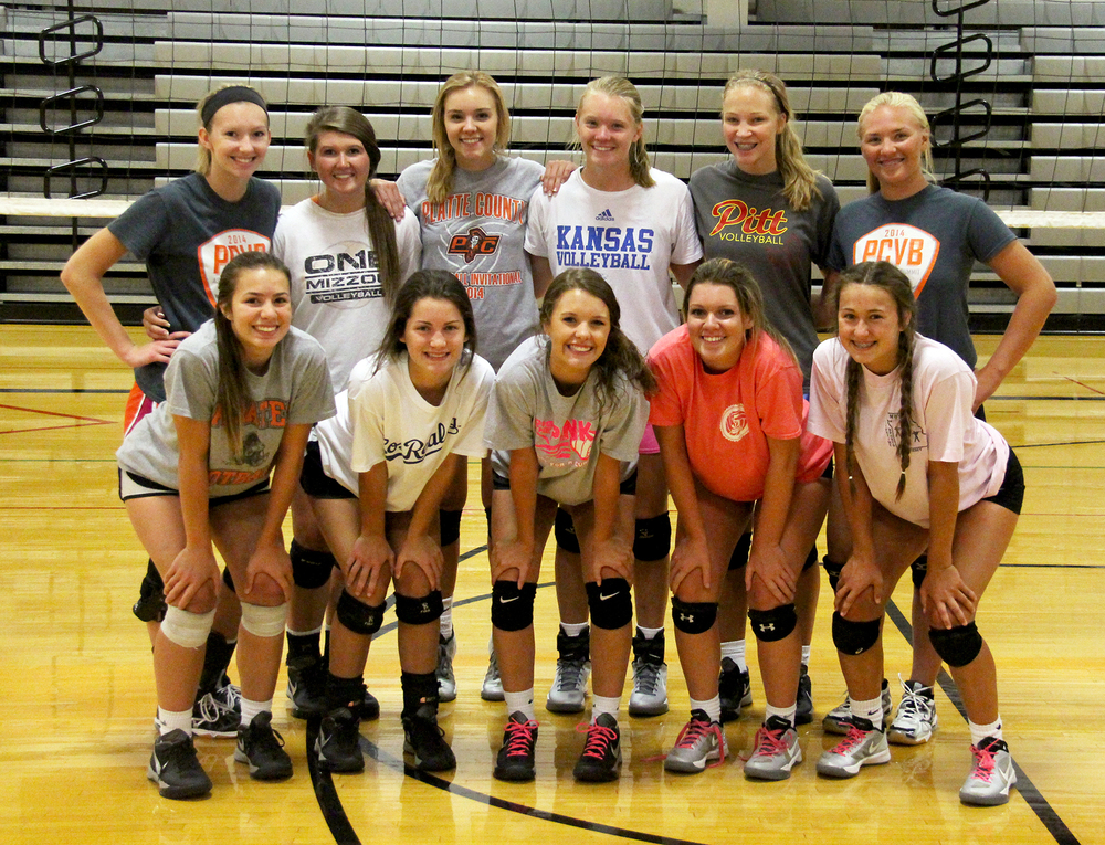 Front row, from left: Lily Harrison, Ashley Bell, Alex Kelsey, Haley Williams and Carli Hensley. Back row, from left: Hannah Kunels, Rachel Noll, Bailey Harris, Lauren Walker, Kenzie Polley and Alex Huntley.