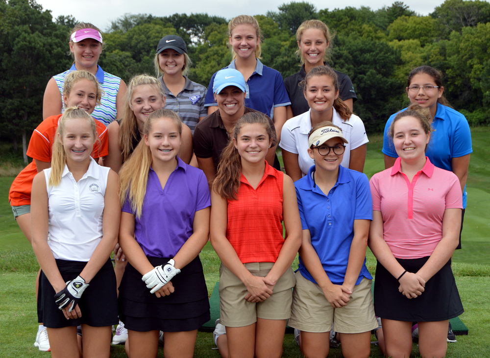 Front row, from left: Alexis Colpitts, Olivia Siebert, Sadie Franklin, Taylor Evans and Maya Birchler. Second row, from left: Paige Ecton, Adrianne Minnis, Miranda Steczak, Reece Wurzer and Aleacia Estrada. Back row, from left: Annie McFee, Erin Boucher, Grace Cunningham and Kate Eischens. Not pictured: Danyelle Bueoy, Caroline Dunker, Izzy Nitzel and Erica Edmisten.