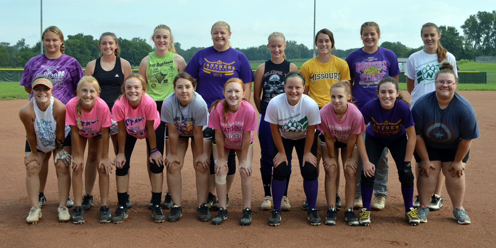 Front row, from left: Alley Rickel, McKenna Fulton, Gracie Roach, Gabby Kidwell, Kyra Patch, Jessica Meadows, Jasmine Wright, Brianna Spier and Shiann Campbell. Top row, from left: Brittnie Deppen, Kadilynn Kelley, Itty Manville, Miranda Daniel, Mckenzie Sams, Jordan Goetz, Jordyn Smith and Summer Green.