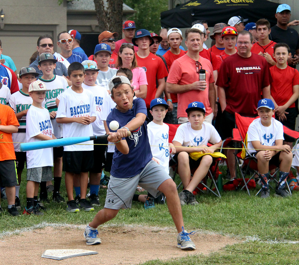 ROSS MARTIN/Citizen photo Phillip Scimeca takes a swing during his first round game Sunday, Sept. 4 in the Wiffle Ball tournament he created six years earlier.