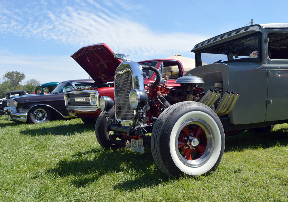 BRENT ROSENAUER/Citizen photo The 16th annual Greaserama car show was held this past weekend at the Platte County Fairgrounds in Tracy, Mo., featuring nearly 1,000 DIY cars, trucks and bikes.