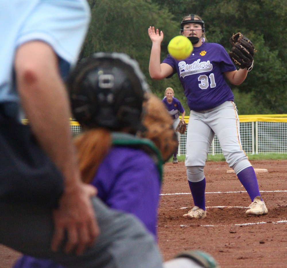 ROSS MARTIN/Citizen photo North Platte freshman pitcher Jordyn Smith (31) delivers a pitch to catcher Kyra Patch.
