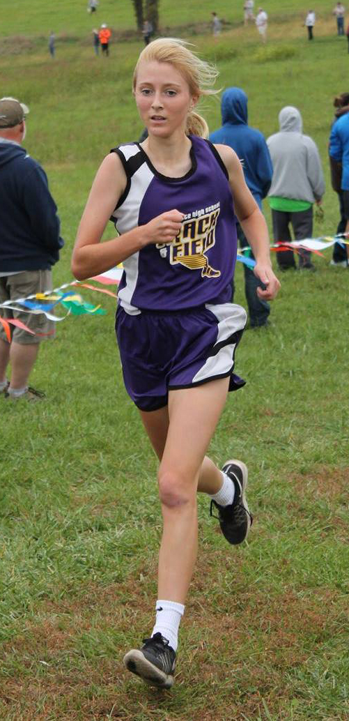 BREANNA L. CHEADLE Special to The Citizen North Platte junior McKenna Fulton finsihes her race at the West Platte Invitational on Saturday, Oct. 15 at Platte Ridge Park near Platte City.