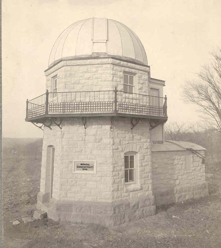 Contributed photo The Charles Smith Scott Memorial Observatory, torn down more than a decade ago, had a long history of being haunted. The building on the Park University campus in Parkville, Mo. traces its legend back to some pranksters in the 1930s who created a haunted history.