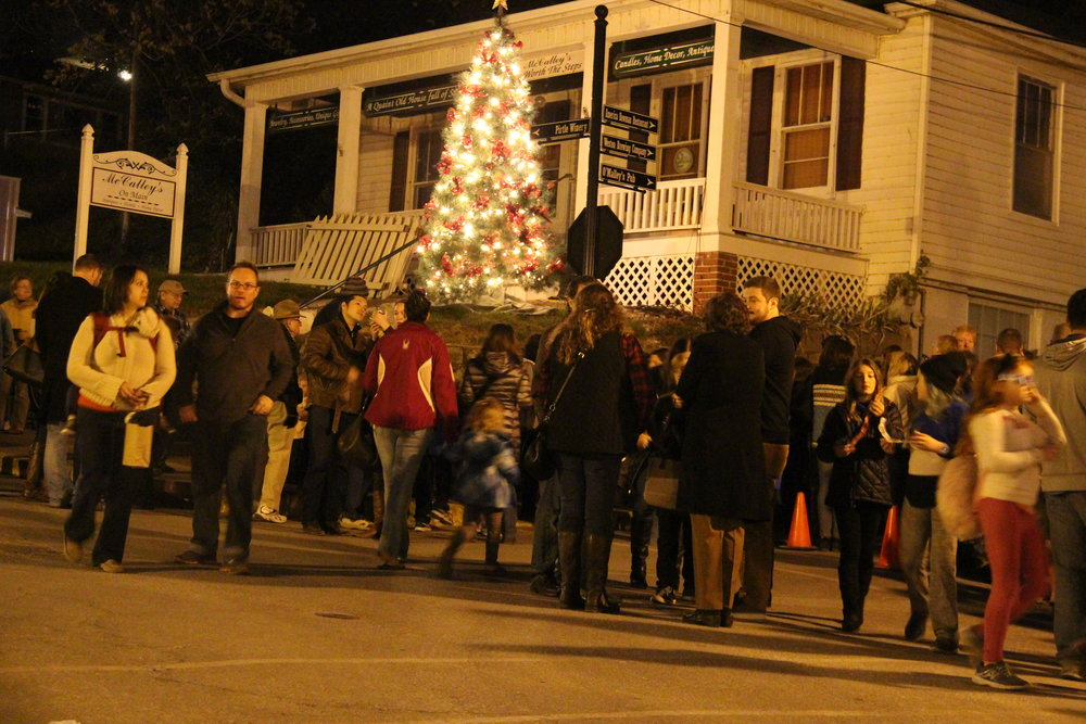 ROSS MARTIN/Citizen photo The crowd disperses along Main Street on Saturday, Nov. 12 following the City of Weston's annual holiday lighting ceremony. The event was the first of many that will occur in Platte County in the coming weeks.