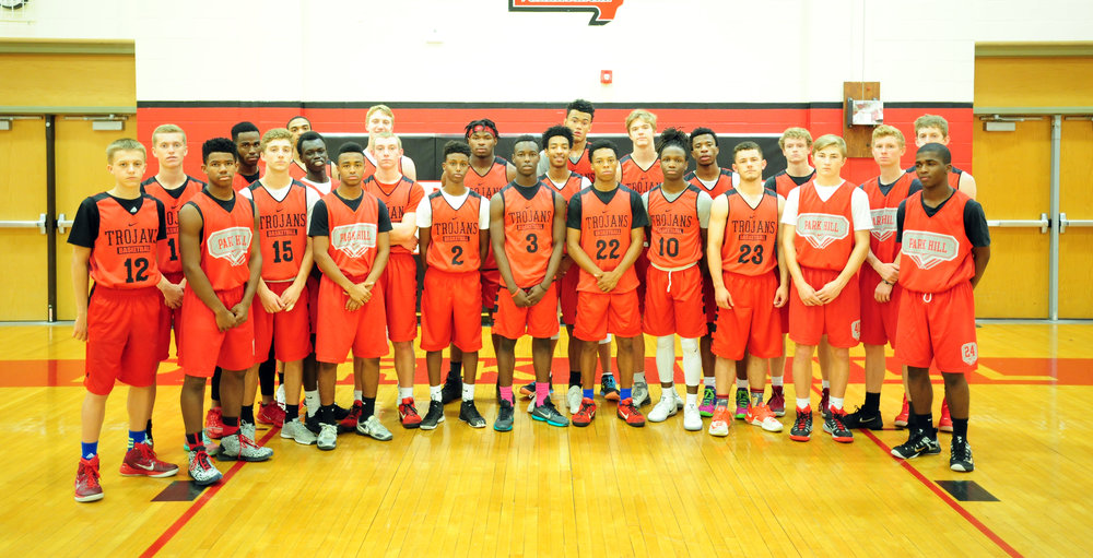 Park Hill boys basketball players: Ryan Kiser, Ryan Graves, Corey Bradford, Malik Bell, Davis Suppes, Cecil Lee, Teng Akoi, Dashawn Powell, Nick Zeil, Hayden Wallace, Hanad Hirad, Chester Graves, Tyione Stewart, Elbert McCullough, Roman Wilson, Khalid Smith, Mitch Baack, Willy Majok, Dru Smith, Ashtyn Couch, Gabe Bruce, Zayne Morrow, Jackson Minter, Mike Engelbert and Darius Whitney.