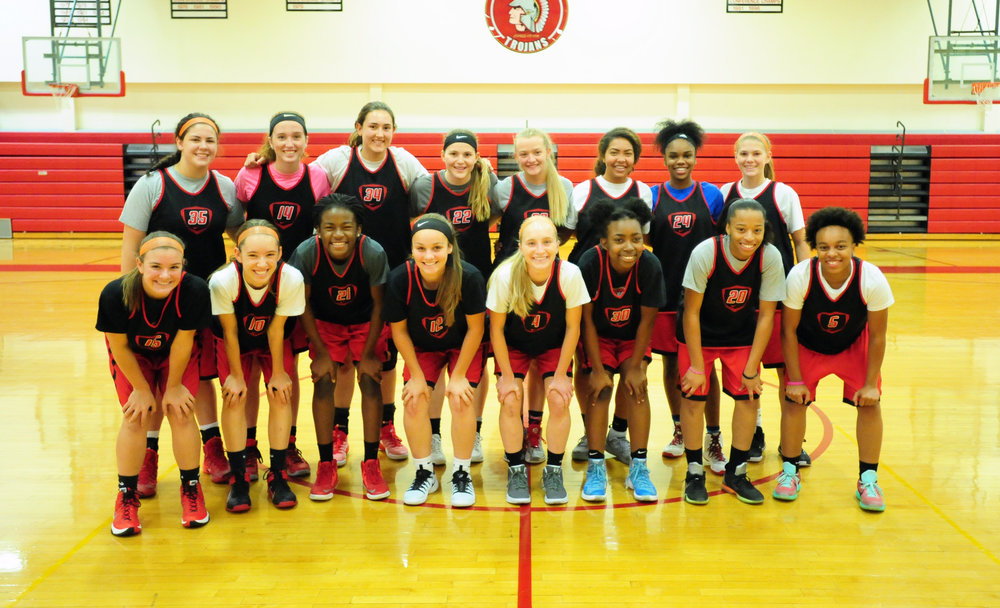 Front row, from left: Kori Smith, Landyn Powell, Manuela Ngo Tonye Nyemeck, Alexa Lashbrook, Alison walls, Breona Wilburn, Tiayia Bryant and Leah Reed. Back row, from left: Rachel Pella, Addison Devers, Morgen Smith, Alex Berger, Brooke Elliott, Aleece Noble, Taiya Shelby and Payton Watson.