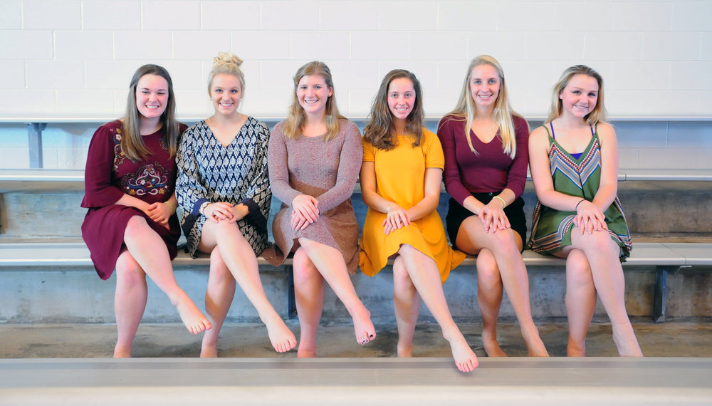 Left to right are Park Hill South seniors Erika Longenecker, Lexi Applequist, Kirsten Aken, Abby Hunt, Allison Garrett and Emilee Abbott.