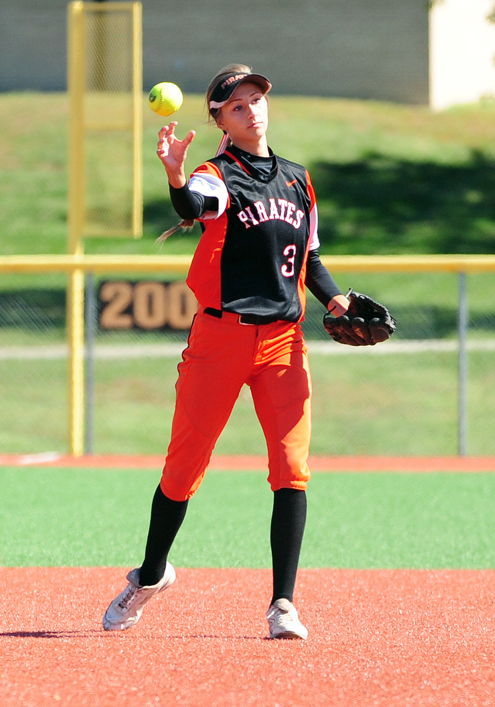NICK INGRAM/Citizen photo Platte County senior shortstop Tori Farr.