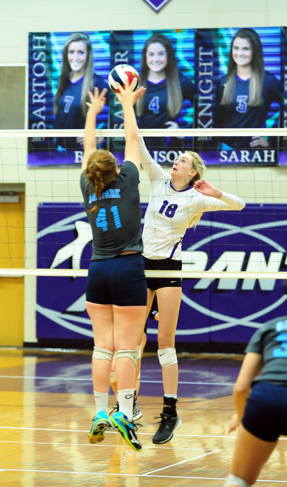 Citizen file photo Park Hill South junior middle blocker Annika Welty made the Missouri High School Volleyball Coaches Association all-state list in Class 4, one of three selections for the Panthers after a 31-2-1 season.