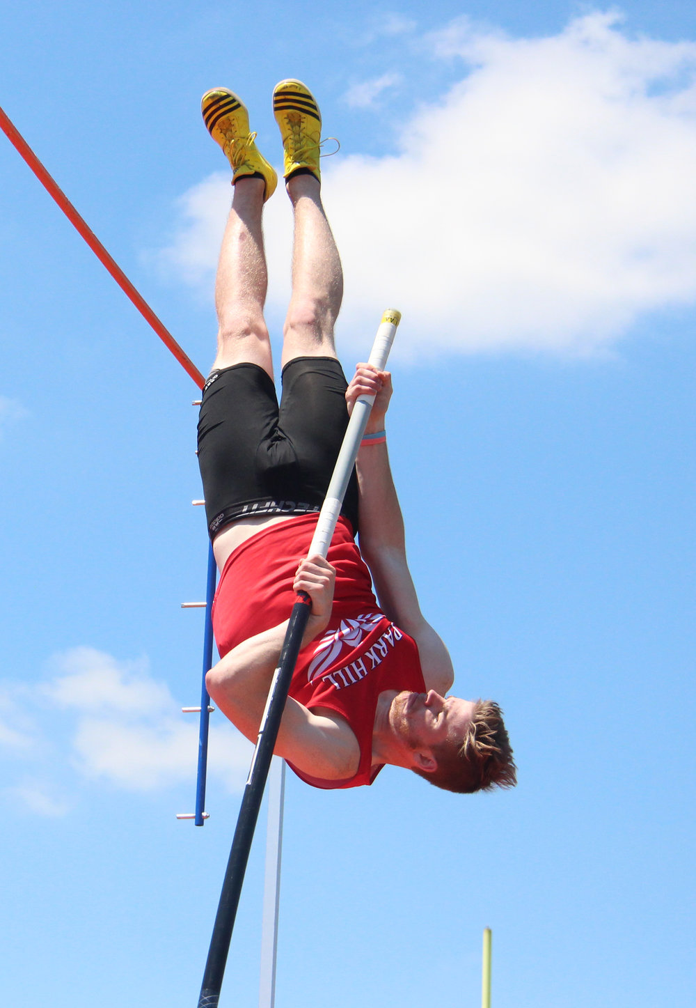 ROSS MARTIN/Citizen photo Park Hill senior Chris Nilsen pole vaulting last spring.