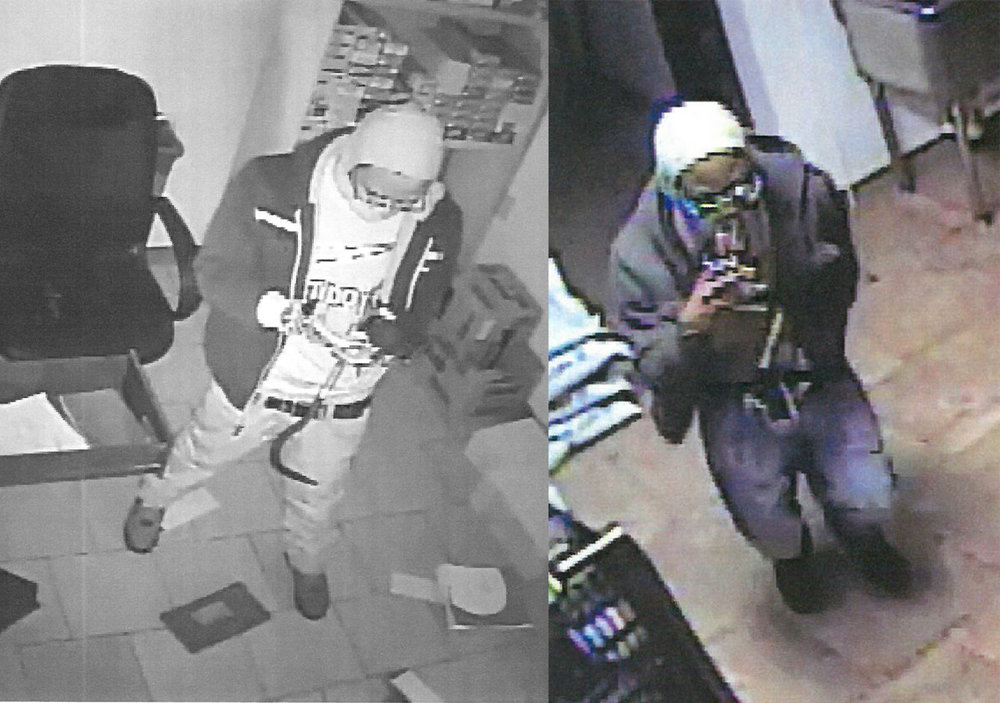 Contributed photos The Platte County Sheriff's Office is looking for any information in identifying four suspects who broke into the Trex Mart convenience store in Camden Point, Mo. on Thursday, Jan. 19. Pictured above are two of the four suspects that broke into the store.