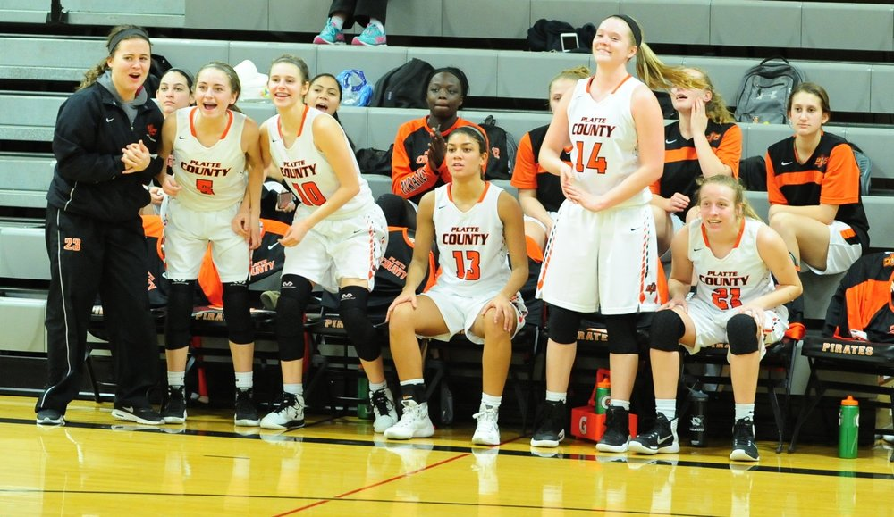 NICK INGRAM/Citizen photo The Platte County bench reacts late in a win over Winnetonka on Monday, Jan. 30 at Platte County High School.