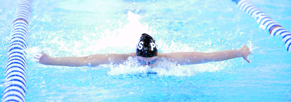 NICK INGRAM/Citizen photo Platte County senior Hannah Havemeier competes in the 200-yard medley relay during the Suburban Conference Blue Division championships on Saturday, Feb. 4 at Gladstone Community Center in Gladstone, Mo.