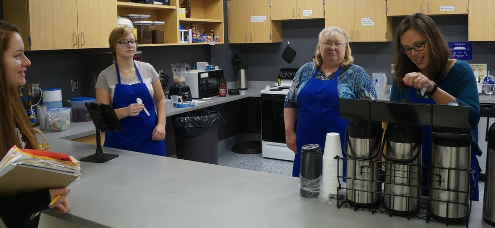Contributed photo Students at West Platte High School in Weston, Mo. recently started running West Platte Coffee and Tea, a store located inside the school.
