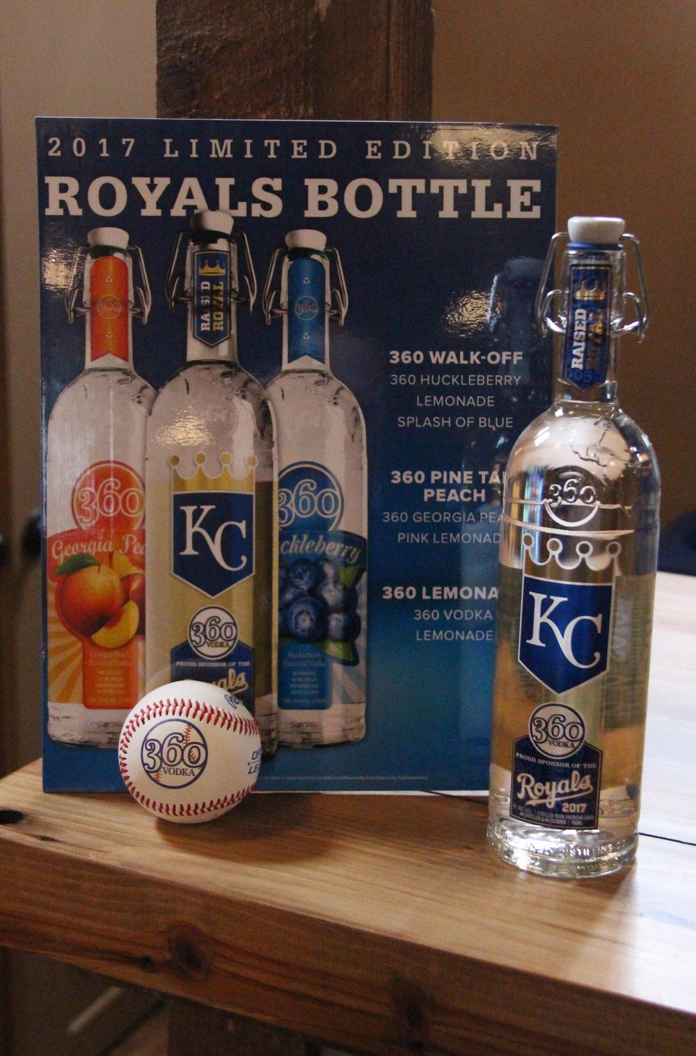 ROSS MARTIN/Citizen photo One of the new 360 Vodka 2017 commemorative Royals bottles on display Tuesday, March 14 at McCormick Distilling company in Weston, Mo.