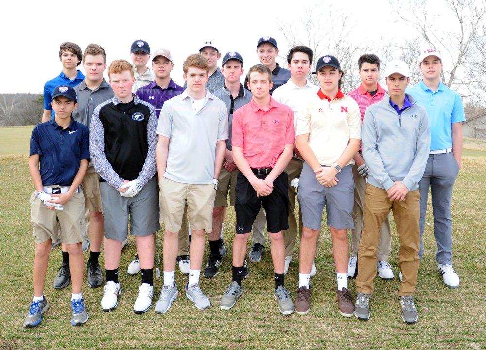Front row, from left: Nico Leluga, Sterling Scott, Michael Smoyer, Zach Bischler, Matthew Dieleman and Joe Leluga. Second row, from left: Dane Uhrmacher, Kevin Ryan, Jay Threadgill, Harrison Feaster, Brayden Stauffer and Nick Ryan. Back row, from left: Alex Mack, Blaine Feaster, Carson Dodd and Chris Walker.