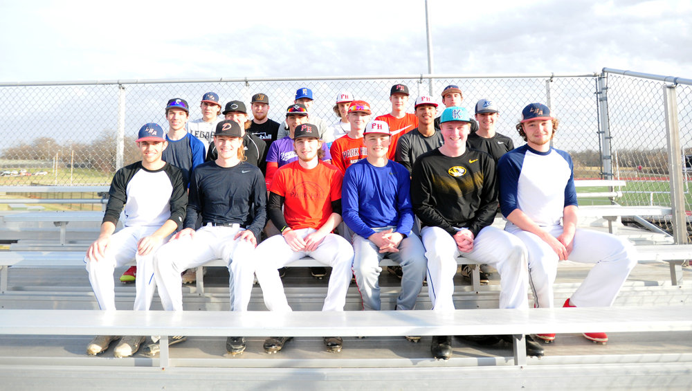 Front row, from left: Brett Nelson, Tyler Watson, Chase McCollom, Ryan Lack, Grant Mertz, and Austin Brooks. Middle row, from left: Reid King, Cody Hall, Joe Daneff, Zayne Morrow, Liam Henry and Trever Guzzo. Back row, from left: Bryce Balusek, Connor Morehouse, Ben Zhand, Christian Hackworth, Ashton Brady and Ethan Boyd.
