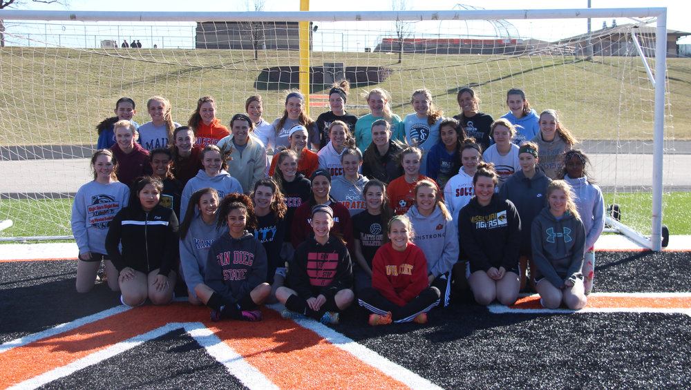 Platte County soccer roster: Jaylee Wiedmer, Brittany Alvarado, Karlee Chase, Haylie Jerome, Hanna Hall, Madeline Donnelli, Bailey Bologna, Katlyn Evans, Kianna Castro, Calle Boe, Hannah Valentine, Amanda Sullivan, Kaylyn Hathaway, Alexis Guillory, Coryn Stephenson, Courtney Kennedy, Mallarie Hynes, Kelsey Evans, Destinee Smith and Faith Burtchell.
