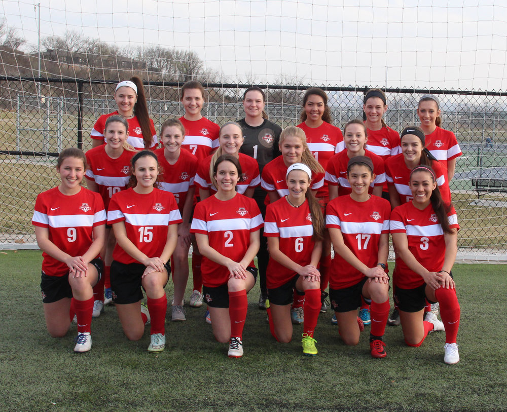 Front row, from left: Grace Wineinger, Karli Petrillo, Andie Powell, Sarah Hibbeler, Ayana Weissenfluh and Chais Wright. Middle row, from left: Brooke Witherby, Shannon Kauffman, Alison Walls, Veda Matthews, Kylie Aulgur and Mackenzie Sackuvich. Back row, from left: Dragana Andonovski, Meg Feeley, Kelbey Emerson, Aleece Noble, Jenna Winebrenner and Victoria Harter.