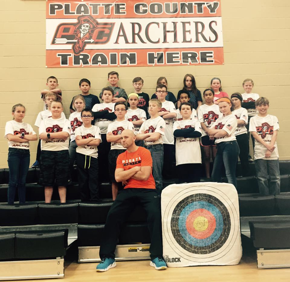 Contributed photo The Compass Elementary archery team, pictured here with coach Josh Littrell, recently participated in the ninth annual Missouri National Archery in the Schools Program state tournament held in Branson, Mo. in late March. The team placed eighth out of 23 elementary school teams.